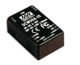 Mean Well DCW05A-15 5W/9~18Vin/±15Vout/190mA