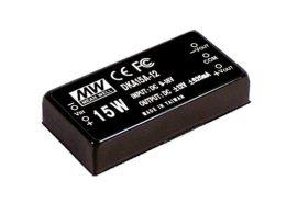 Mean Well DKA15C-12 15W/36~72Vin/±12Vout/625mA