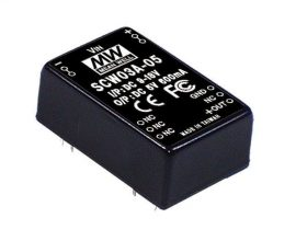 Mean Well SCW03C-05 3W/36~72Vin/5Vout/600mA